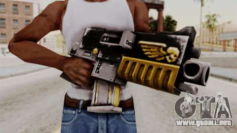 Un bólter de Warhammer 40k para GTA San Andreas tercera pantalla