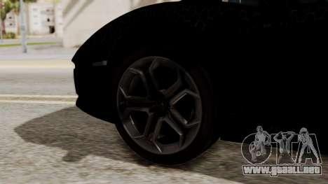 Lamborghini Aventador LP-700 Razer Gaming para GTA San Andreas vista posterior izquierda