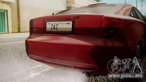 Toyota Celica SS2 Tunable para GTA San Andreas vista hacia atrás