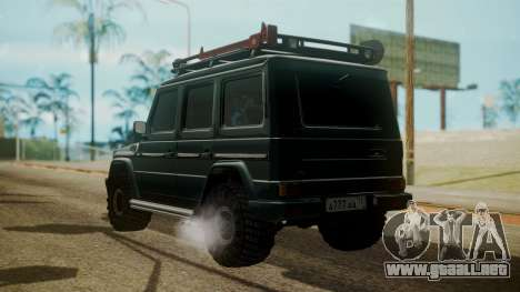 Mercedes-Benz G500 Off-Road para GTA San Andreas left