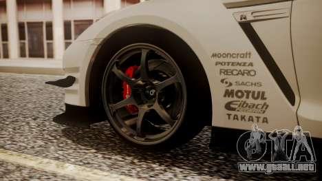 Nissan GT-R R35 2012 v2 para GTA San Andreas vista posterior izquierda