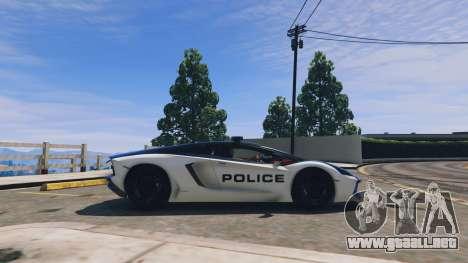 GTA 5 Lamborghini Aventador Police vista lateral izquierda