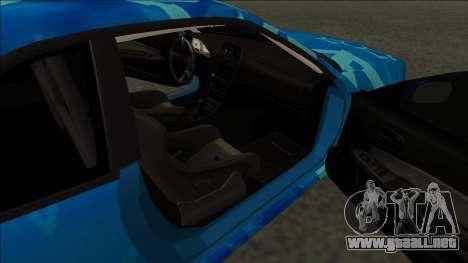 Nissan Skyline R34 Drift Blue Star para GTA San Andreas vista posterior izquierda