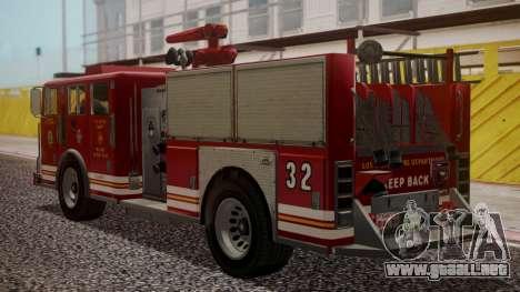 GTA 5 MTL Firetruck para GTA San Andreas left