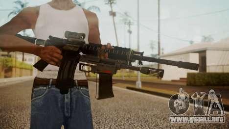 M4 with M26 Mass para GTA San Andreas tercera pantalla