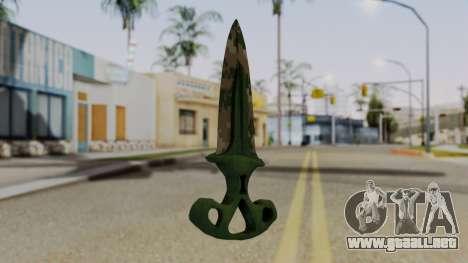 La sombra de la Daga de Píxeles de camuflaje para GTA San Andreas