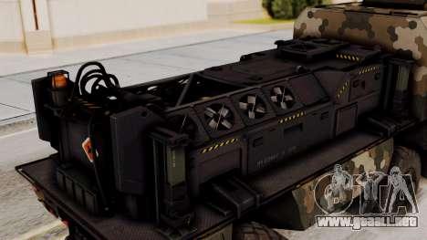 Tempest (dispositivo) para GTA San Andreas vista hacia atrás