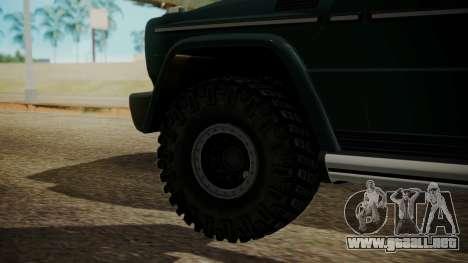 Mercedes-Benz G500 Off-Road para GTA San Andreas vista posterior izquierda