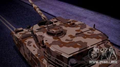 GTA 5 Rhino Tank IVF para GTA San Andreas vista posterior izquierda