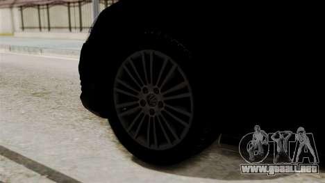 Volkswagen Golf R32 NFSMW05 Sonny PJ para GTA San Andreas vista posterior izquierda