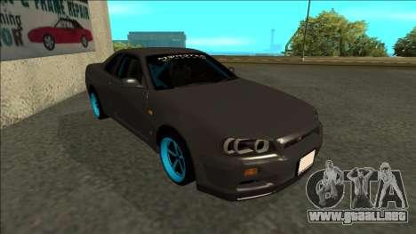 Nissan Skyline R34 Drift Monster Energy para GTA San Andreas left