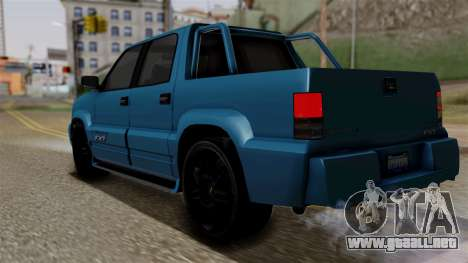 Syndicate Criminal (Cavalcade FXT) from SR3 para GTA San Andreas left