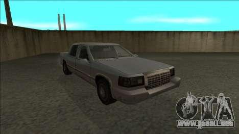 Stretch Sedan para GTA San Andreas vista hacia atrás