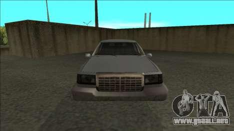 Stretch Sedan para la visión correcta GTA San Andreas