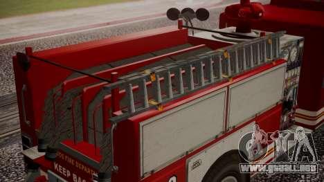 GTA 5 MTL Firetruck para la visión correcta GTA San Andreas