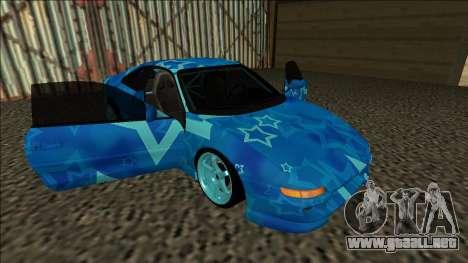Toyota MR2 Drift Blue Star para vista lateral GTA San Andreas
