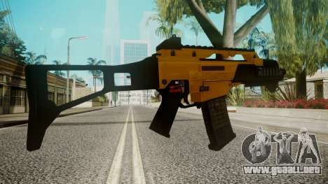 G36C Gold para GTA San Andreas tercera pantalla