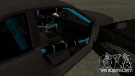 Nissan Skyline R34 Drift Monster Energy para GTA San Andreas vista posterior izquierda
