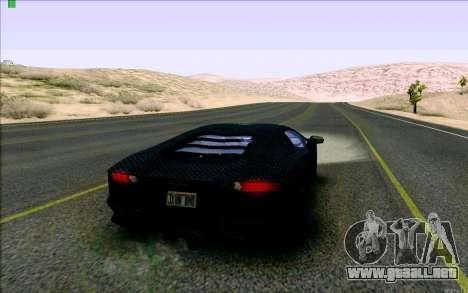 Lamborghini Aventador LP-700 Razer Gaming para la visión correcta GTA San Andreas
