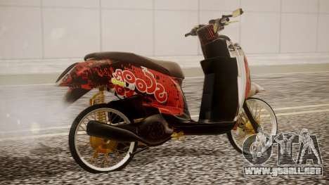 Honda Scoopy New Red para GTA San Andreas left