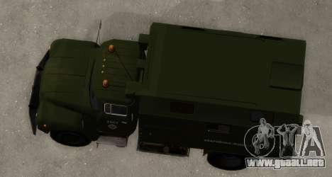 ZIL-130 de Agua de Emergencia para la visión correcta GTA San Andreas