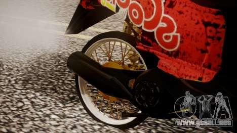 Honda Scoopy New Red para la visión correcta GTA San Andreas