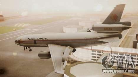 DC-10-10 National Airlines para GTA San Andreas left