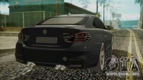 BMW M4 Coupe 2015 Carbon para GTA San Andreas left