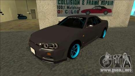 Nissan Skyline R34 Drift Monster Energy para GTA San Andreas