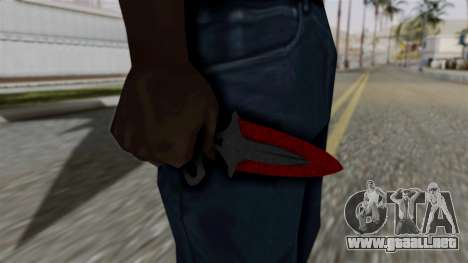 La sombra de la Daga Sangrienta telarañas para GTA San Andreas tercera pantalla