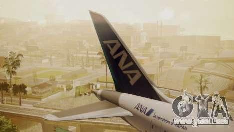 Boeing 787-9 ANA R2D2 para GTA San Andreas vista posterior izquierda