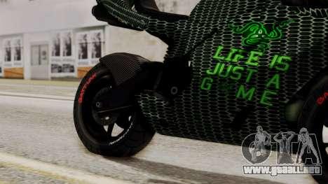 Bati Motorcycle Razer Gaming Edition para la visión correcta GTA San Andreas