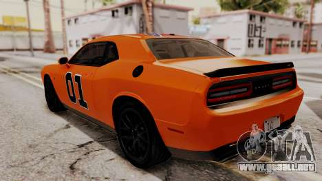 Dodge Challenger SRT Hellcat 2015 IVF para GTA San Andreas