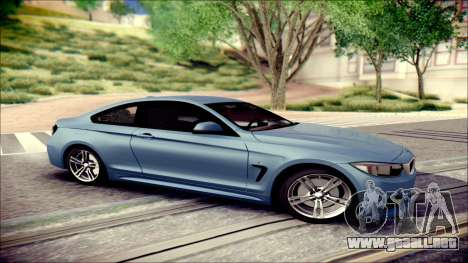 BMW 4 Series Coupe M Sport para GTA San Andreas left