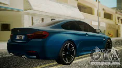 BMW M4 Coupe 2015 Brushed Aluminium para GTA San Andreas left