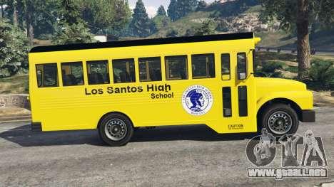 GTA 5 Clásico autobús de la escuela vista lateral izquierda