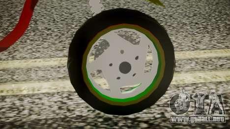 Proto Rasta para GTA San Andreas vista posterior izquierda