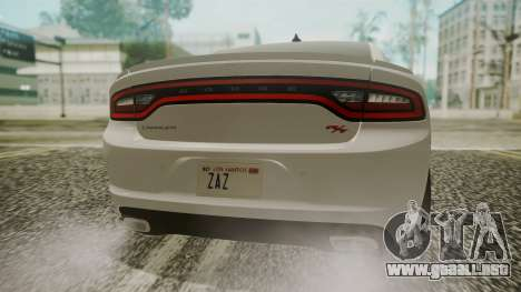 Dodge Charger RT 2015 Hatsune Miku para GTA San Andreas vista hacia atrás
