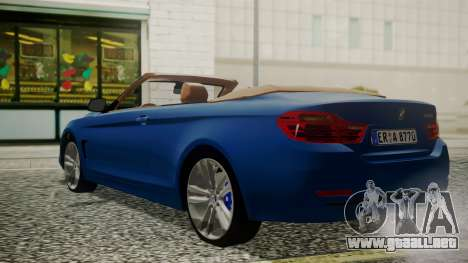 BMW M4 F32 Convertible 2014 para GTA San Andreas left
