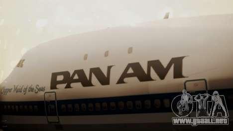 Boeing 747-100 Pan Am Clipper Maid of the Seas para GTA San Andreas vista hacia atrás