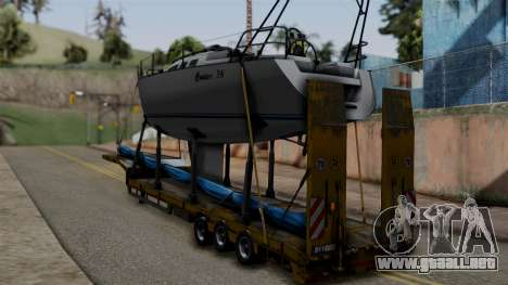 Overweight Trailer Yellow para GTA San Andreas left