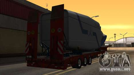 Overweight Trailer Stock para GTA San Andreas left