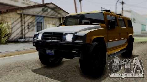 Luchadores Bulldog (Patriot) from SR3 para GTA San Andreas