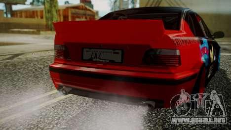 BMW M3 E36 Happy Drift Friends para GTA San Andreas vista hacia atrás