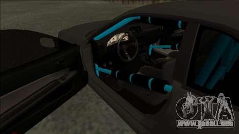 Nissan Skyline R34 Drift Monster Energy para la visión correcta GTA San Andreas