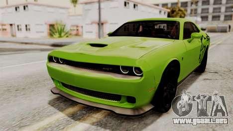 Dodge Challenger SRT Hellcat 2015 IVF para las ruedas de GTA San Andreas