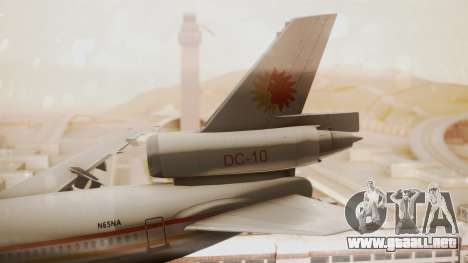 DC-10-10 National Airlines para GTA San Andreas vista posterior izquierda