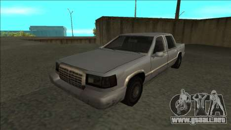 Stretch Sedan para GTA San Andreas vista posterior izquierda
