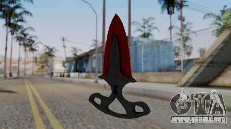 La sombra de la Daga Sangrienta telarañas para GTA San Andreas segunda pantalla