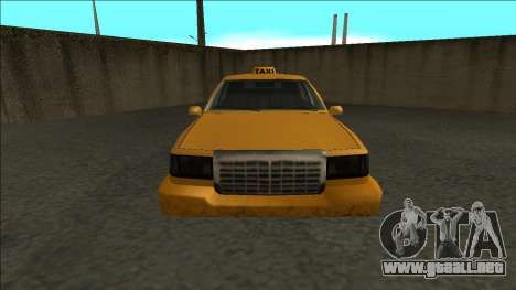 Stretch Sedan Taxi para la visión correcta GTA San Andreas